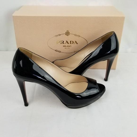 Prada Shoes | Prada Chunky Nude Heel | Poshmark